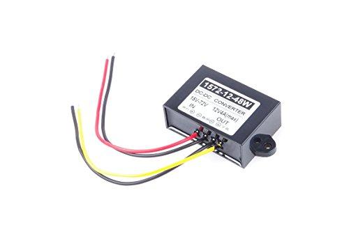 KNACRO 15V 24V 36V 48V 60V (15-72V) To 12V 4A MAX 48W DC-DC Waterproof Boost Converter Automatic Step Down Voltage Regulator Module Car Power Supply Voltage Transformer