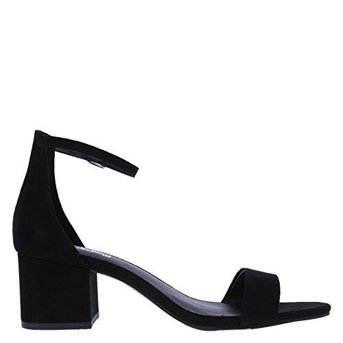 Brash Naomi Block Heel Women's Blackfabric v7vwAY