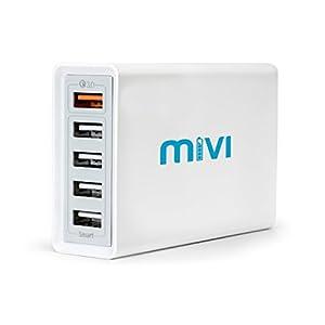 Mivi DC58QC3 8A Desktop USB Turbo Charger Hub – (White)