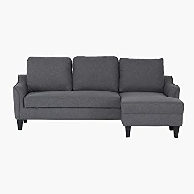 pretty nice ff106 e0d7a Home Box Sydney Right Corner Sofa Bed-Grey: Amazon.com: HomeBox