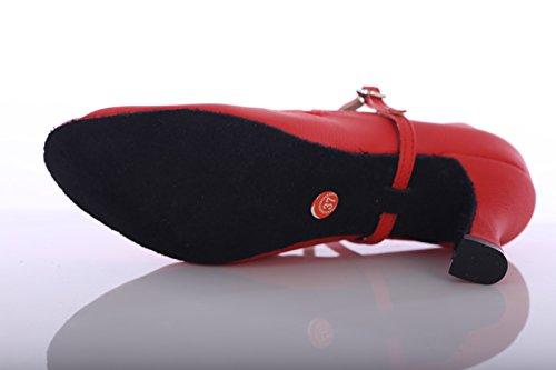 per altezza adulti scarpe con 7 da ballo scarpe adulti cm con per ballo ballo alto donna da ShangYi donna Scarpe da elasticizzate tacco waltz con EU35 fondo da CN34 moderne morbido UK3 da 8wf48TqUZp