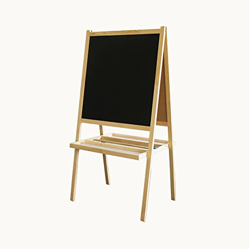 LXLA-Easel LXLA Child Double-sided Easel Baby White Board Pine Wood Painting Display Stand Kid Wooden Blackboard Mini Graffiti Magnetic Rack from LXLA-Easel