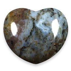 Crystal Ocean Jasper (Ocean Jasper Crystal Heart ~45mm)