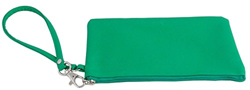Buxton Straplet - Ladies Soft-Sided Zippered Wallet - Green.