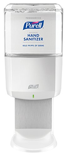 PURELL Foodservice Advanced Hand Sanitizer Foam ES6 Starter Kit, 1 - 1200 mL Sanitizer Refill + 1 - ES6 White Touch-Free Dispenser - 6455-1W