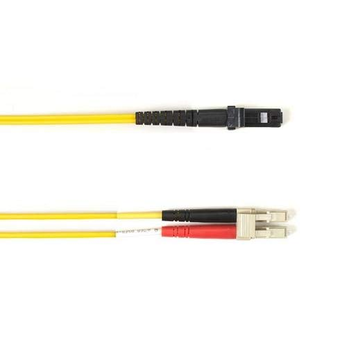 Black Box FOCMRM4-002M-LCMT-YL, Fiber Patch Cable, Pack of 3 pcs