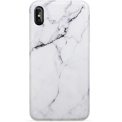 VIVIBIN iPhone Xs Max Case,Beautiful White Marble for Men Girls Women Clear Bumper Soft Silicone Rubber Cute Glossy TPU Cover Slim Fit Best Protective Thin Phone Case for iPhone Xs Max [6.5]