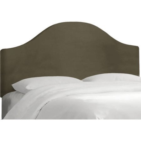 Basic Curved Velvet Upholstery Headboard, Can Adjust up to 3