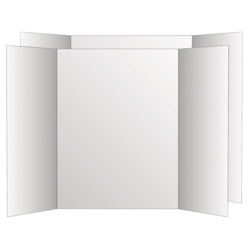 Eco Brites - Two Cool Tri-Fold Poster Board, 36 x 48, White/White, 6/Carton 26790 (DMi CT