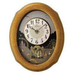 Timecracker Golden Oak II by Rhythm Clocks
