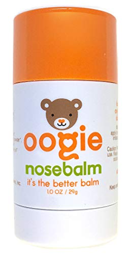 oogiebear nosebalm - Hydrate, Repair and Nourish Baby's Nose, face, Lips and Body, Cold Pressed, 100% Certified Organic Ingredients - 1oz (29g) ()