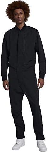 NIKE 898298-010 Men's Tech Air Jumpsuit Black Full Body Suit ...