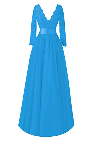 Ocean Blue the Formal of Mother Bridal Bride Lace Bess Women´s Dresses Sleeve Long wOBfpPq