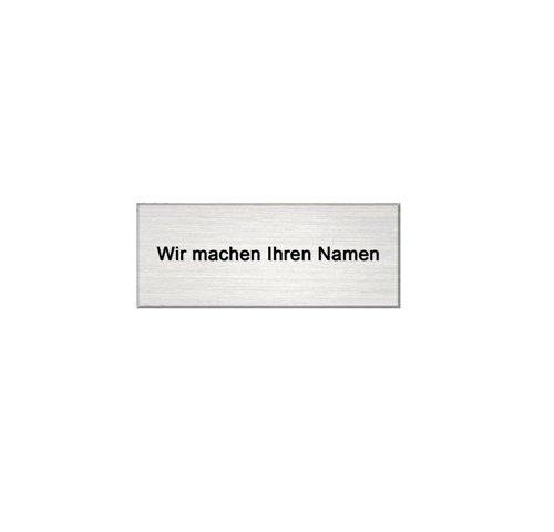 Schild Briefkastenschild Edelstahl V2A 100 x 40 mm Namenschild Türschild