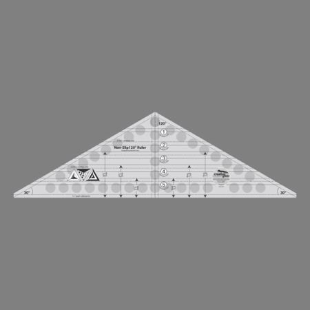 (Creative Grids 120 Degree Triangle Ruler cgr120r)