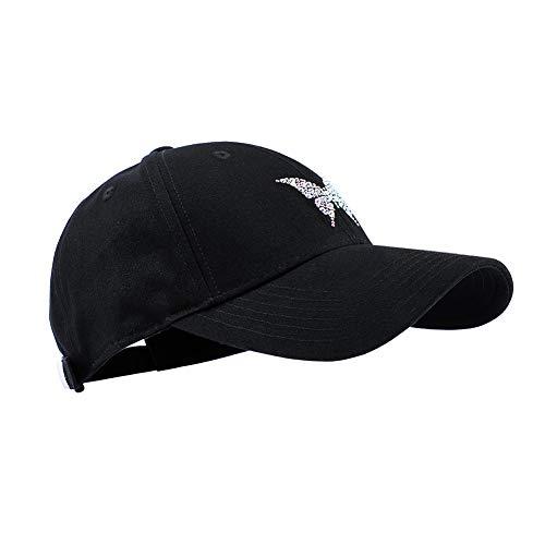 (Gigiana Crystal Bling Hat Adjustable - Rhinestones Baseball Cap Black - Great Summer Cap for Women and Kids Travel)