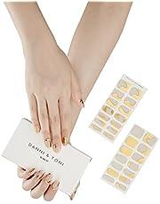 Danni&Toni Semi Cured Gel Nail Polish Strips Gel Nail Stickers Glaze Nail (28 Stickers)