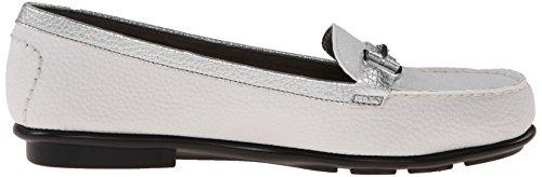 A2 by Aerosoles Womens NU World Slip-On Loafer White Combination GrH4u69IFC