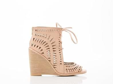 Jeffrey Campbell Women's Rodillo Wedge Sandals, Nude, 8.5 B(M) US