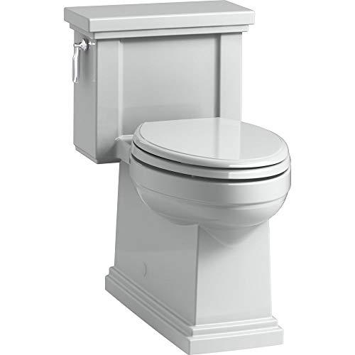 Kohler K-3981-95 1-Pc Elongated AquaPiston Toilet w/ & Lever 1.28 GPF Ice Grey ()