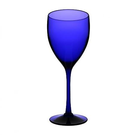 10c787ea911 Bristol Blue Glass Elegant White Wine Glass  Amazon.co.uk  Kitchen   Home