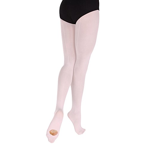Body Wrappers Convertible Backseam Tights, Classic Ballet Pink, Large/X-Large (Tights Supplex Convertible)