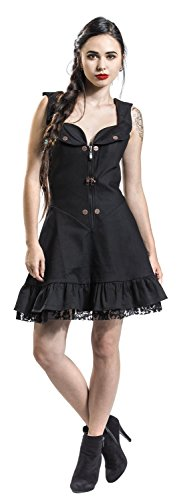 schwarz Schwarz Kleid Lovely Dress Jawbreaker wORtqYc