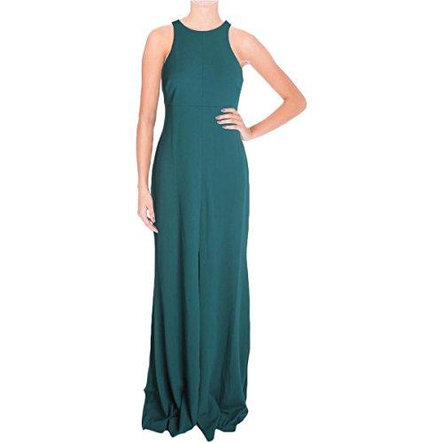 Vera Wang Women's Suba Crepe Maxi Dress, Bottle Green, 10 -