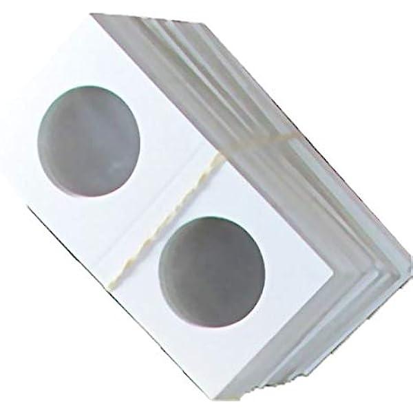 Leatherette 2x2 Quadrum Flips Storage 100 pc Coin Capsule Holder Box Case