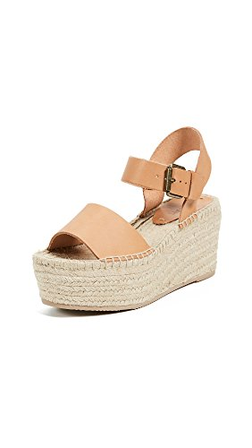 Soludos Women's Minorca High Platform Espadrille Wedge Sandal, Nude, 9 Regular US by Soludos