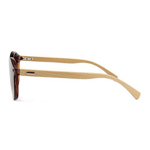 Protección Hombres de la una Adecuado Pieza de Pierna Hecho Estilo Gafas para sin bambú Sol para UV de Sola Mujeres a Fines Uso Diario De Gububi Marco Marrón Unisex Libre Aire al de múltiples Mano y qvw446