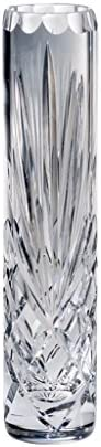 Barski – Hand Cut – Mouth Blown – Crystal – Bud Vase – 8 Height – Made in Europe