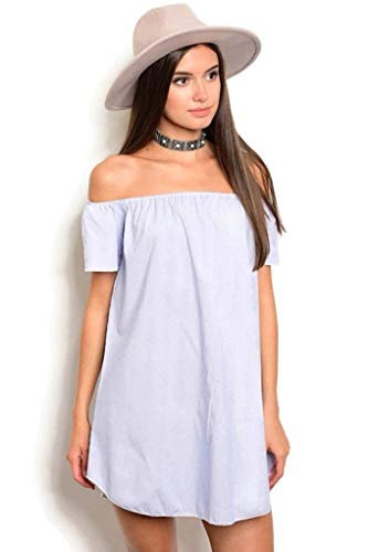 Light Blue Pinstriped Dress (Small)