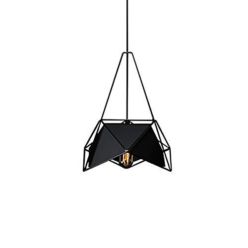 (ACACVA Pendant Light, Fisherman's Style Metal Pendant Light, Ceiling Light with Black Shade for Bedroom Living Room Restaurant,E27 Lamp Holder,B)