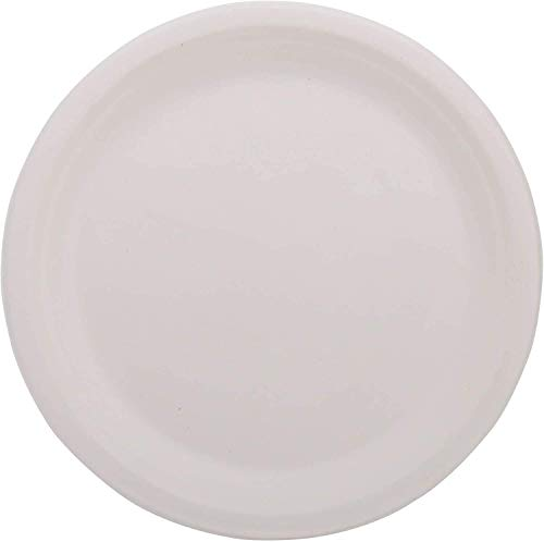 ECOWARE:100% Natural, Biodegradable, Compostable, Ecofriendly, Safe & Hygienic Disposable 10 inch Round Plate (Pack of 50 Plates)