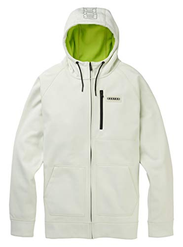 Burton Men's Crown Bonded Full-Zip Hoodie, Stout White, X-Small