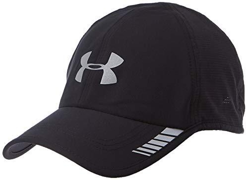 Under Armour Men's Launch ArmourVent Cap, Black (001)/Silver, One Size (Under Armour Hats For Men)
