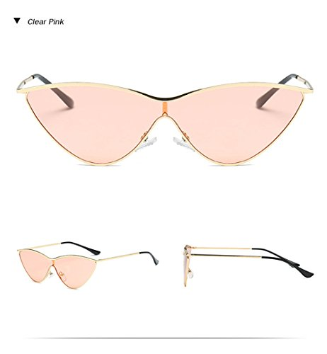 rojo ojo de Espejo color sol gato gafas mujer Damas Clara sol de Vintage de negro pieza rosa Diseñador marca de Gafas de Retro Rosa una de gafas Bw5xCqStH