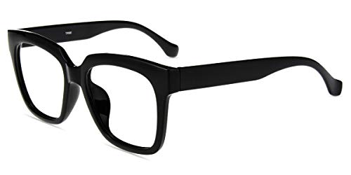 - Firmoo Blue Light Blocking Glasses,Oversize Bagy Computer Eyeglasses, Classic Stylish Square Frame Eyewear for Women/Men (Black)