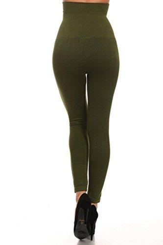 a82189f85b Yelete Women's Empire Waist Tummy Compression Control Top Leggings ...