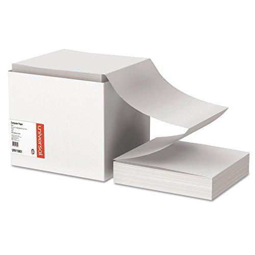 UNV15801 Computer Paper, 18lb, 9-1/2 x 11, Letter Trim Perforations, White, 2700 Sheets ()