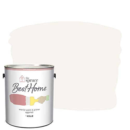 The Spruce Best Home by KILZ 15124901 Interior Eggshell Paint & Primer in One, 1 Gallon, SPR-25 First Frost