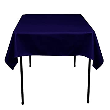 Tablecloth Polyester 60u0026quot; X 60u0026quot; Square Navy Blue ...