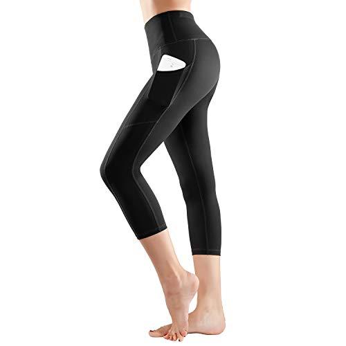 (ESPIDOO High Waist Yoga Pants with Pockets for Women Tummy Control Capri Legging)