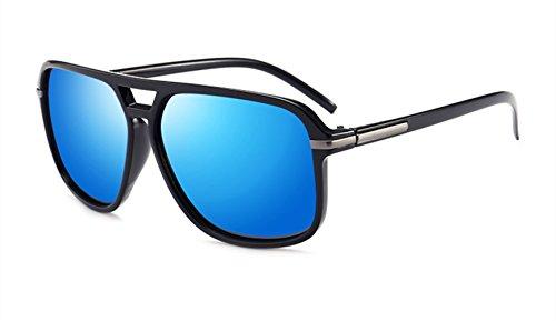 Hombre TAC Material Blue Polarizadas Gafas De Brown MYLEDI Fashion Sol Driving Metal qwzn08