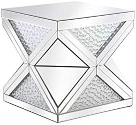 Living District Elegant Decor MF92004 Modern Crystal End Table