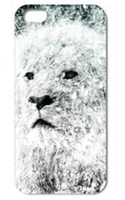 Fashion The Lion Pattern Protective Hard Case Cover For iPhone 5 5S #081 wangjiang maoyi