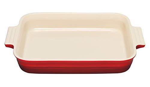Le Creuset Stoneware 12-1/2-by-9-1/2-Inch Rectangular Baking Dish, Cherry - Baker Le Rectangular Creuset