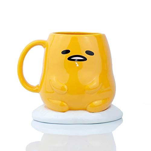 (Gudetama Collectible | Gudetama The Lazy Egg 3D Ceramic Mug 16 Ounces )