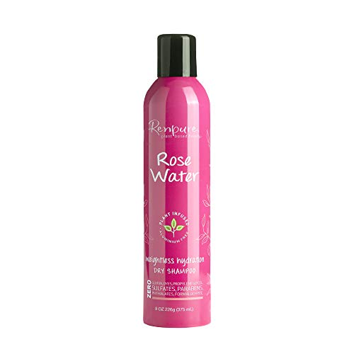 Renpure plant-based Beauty Rose Water Weightless hydration dry Shampoo, 8 Oz